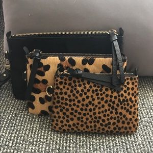 Wristlet with two additional smaller bags